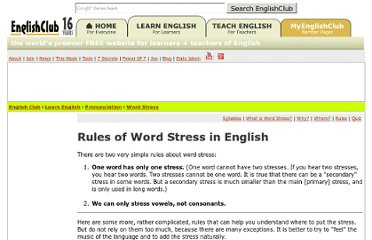 http://www.englishclub.com/pronunciation/word-stress-rules.htm