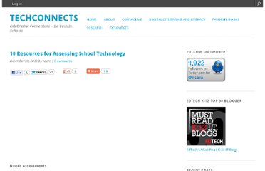 http://ncara.edublogs.org/2011/12/20/10-resources-for-assessing-school-technology/