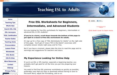http://www.teaching-esl-to-adults.com/free-esl-worksheets-for-beginners.html