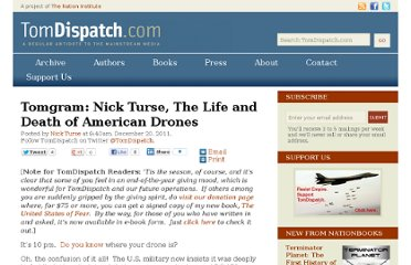 http://www.tomdispatch.com/blog/175482/tomgram:_nick_turse,_the_life_and_death_of_american_drones/