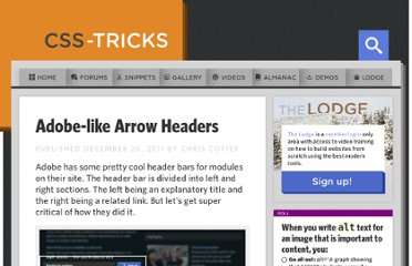 http://css-tricks.com/adobe-like-arrow-headers/