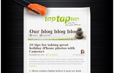 http://taptaptap.com/blog/10-holiday-iphone-tips/