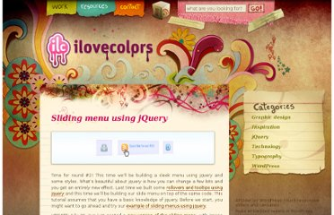 http://www.ilovecolors.com.ar/sliding-menu-using-jquery/