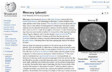 http://en.wikipedia.org/wiki/Mercury_(planet)
