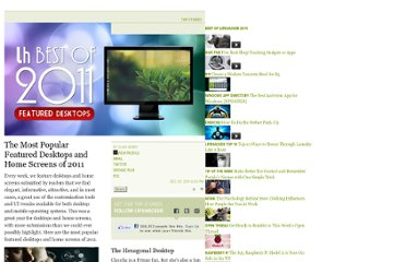 http://lifehacker.com/5869548/the-most-popular-featured-desktops-and-home-screens-of-2011
