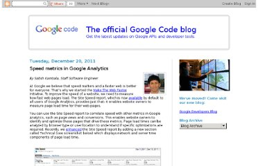 http://googlecode.blogspot.com/2011/12/speed-metrics-in-google-analytics.html