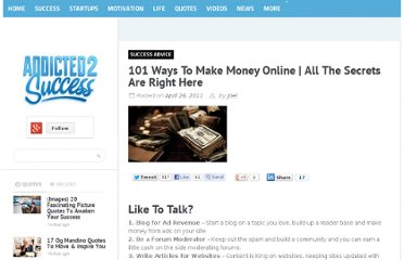 http://addicted2success.com/success-advice/101-ways-to-make-money-online/