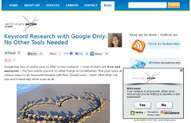 http://www.searchenginepeople.com/blog/keyword-research-with-google-only-no-other-tools-needed.html