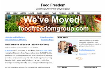https://foodfreedom.wordpress.com/2011/12/20/toxic-botulism-in-animals-linked-to-roundup/