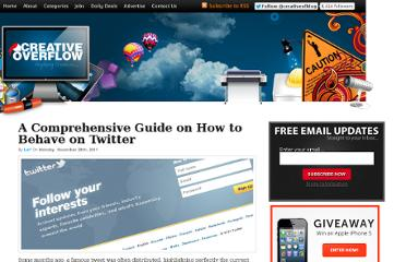 http://creativeoverflow.net/a-comprehensive-guide-on-how-to-behave-on-twitter/