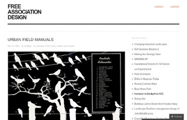 http://freeassociationdesign.wordpress.com/2011/05/19/urban-field-manuals/