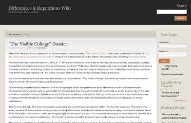http://wiki.diffandrep.org/visible-college