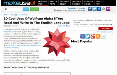 http://www.makeuseof.com/tag/10-cool-wolfram-alpha-read-write-english-language/