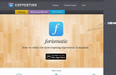 http://coppertino.com/forismatic/