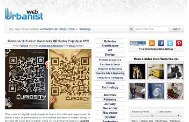 http://weburbanist.com/2011/12/21/curiouser-and-curiouser-handmade-qr-codes-pop-up-in-nyc/