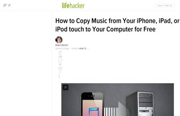 http://lifehacker.com/5869827/how-to-copy-music-from-your-iphone-ipad-or-ipod-touch-to-your-computer-for-free