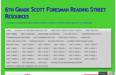 http://6thgradescottforesmanreadingstreetresources.wordpress.com/category/daily-5/