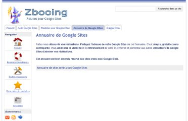 http://sites.google.com/site/astucesggsites/annuaire-de-google-sites