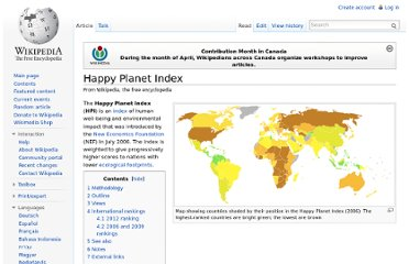 http://en.wikipedia.org/wiki/Happy_Planet_Index