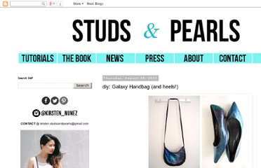http://www.studs-and-pearls.com/2011/08/diy-galaxy-handbag-and-heels.html#more