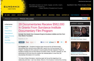 http://www.sundance.org/press-center/release/29-documentaries-receive-582000-in-grants-from-sundance-institute-documenta/