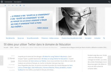 http://blogue.marioasselin.com/2009/02/50_idees_utiliser_twitter_education/
