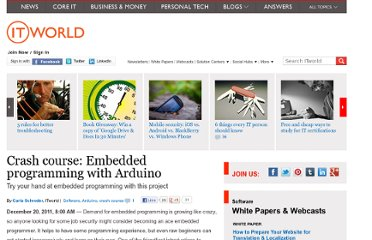 http://www.itworld.com/software/234235/crash-course-embedded-programming-arduino