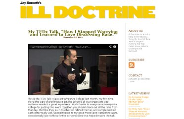 http://www.illdoctrine.com/2011/11/my_tedx_talk_how_i_stopped_wor.html