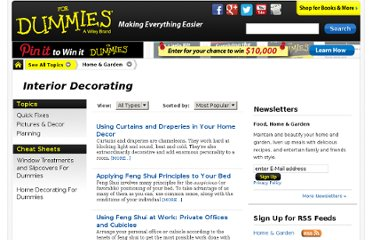 http://www.dummies.com/how-to/home-garden/interior-decorating.html