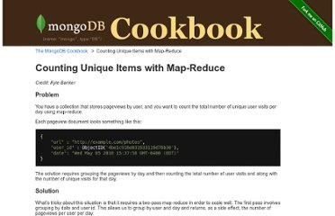 http://cookbook.mongodb.org/patterns/unique_items_map_reduce/