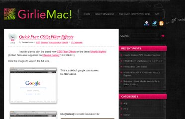 http://girliemac.com/blog/2011/12/21/quick-fun-css3-filter-effects/