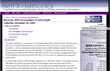 http://www.netfxharmonics.com/2008/12/Reusing-NET-Assemblies-in-Silverlight