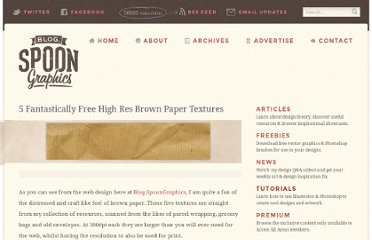 http://blog.spoongraphics.co.uk/freebies/5-fantastically-high-res-brown-paper-textures