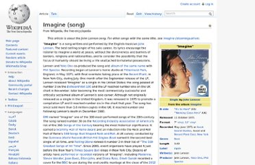 http://en.wikipedia.org/wiki/Imagine_(song)