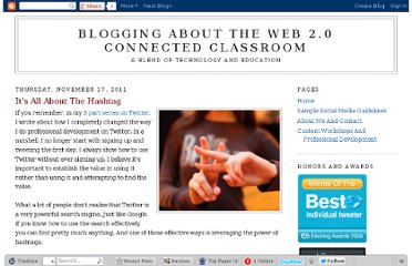 http://blog.web20classroom.org/2011/11/its-all-about-hashtag.html