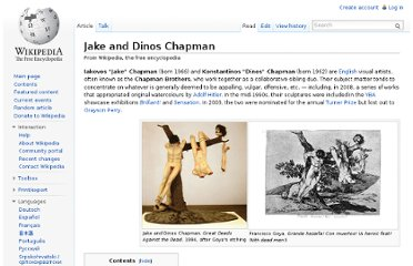 http://en.wikipedia.org/wiki/Jake_and_Dinos_Chapman