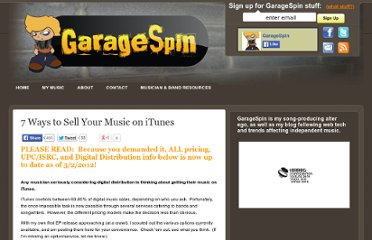 http://www.garagespin.com/2009/03/09/7-ways-sell-your-music-on-itunes/