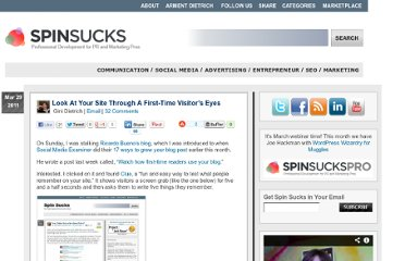 http://spinsucks.com/marketing/look-at-your-site-through-a-first-time-readers-eyes/