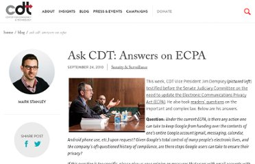 http://cdt.org/ask