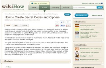 http://www.wikihow.com/Create-Secret-Codes-and-Ciphers