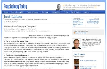 http://www.psychologytoday.com/blog/just-listen/200911/10-habits-happy-couples