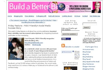 http://www.buildabetterblog.com/2010/11/fido-friendly-social-media-success-story.html
