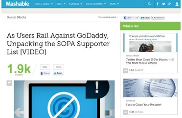 http://mashable.com/2011/12/22/godaddy-sopa-supporter-list/