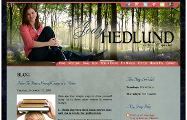 http://jodyhedlund.blogspot.com/2011/12/how-to-drive-yourself-crazy-as-writer.html