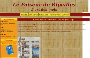 http://lartdesmets.e-monsite.com/pages/litterature-medievale/litterature-francaise-du-moyen-age.html