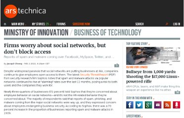 http://arstechnica.com/business/news/2010/02/firms-worry-about-social-networks-but-not-blocking-access.ars