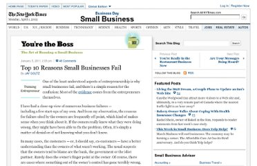 http://boss.blogs.nytimes.com/2011/01/05/top-10-reasons-small-businesses-fail/