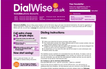 http://www.dialwise.co.uk/dialing_instructions.php