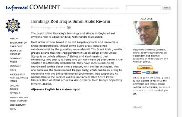 http://www.juancole.com/2011/12/bombings-roil-iraq-as-sunni-arabs-re-arm.html