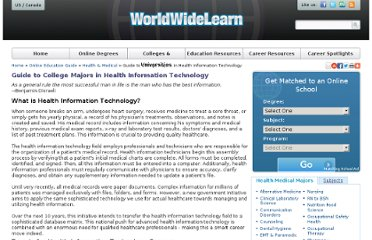 http://www.worldwidelearn.com/online-education-guide/health-medical/health-information-technology-major.htm